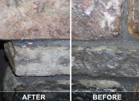 Cleaning fireplace soot from brick or stone simply good tips before and after stone fireplace cleaning solutioingenieria Images