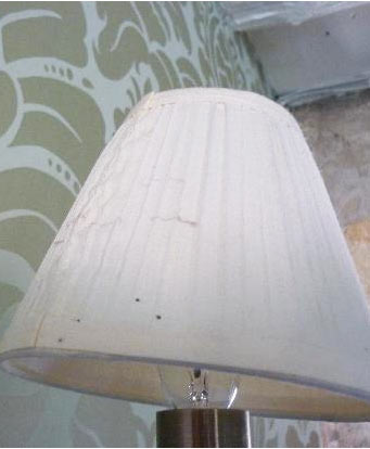 Cleaning A Dirty Lamp Shade