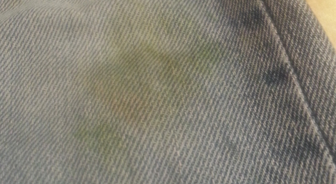 grass stain on jeans
