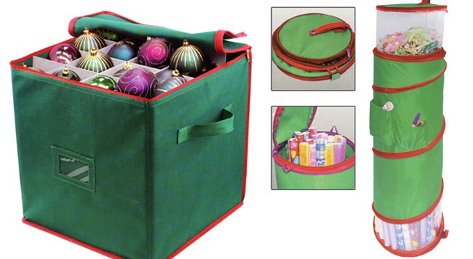 christmas ornament paper storage