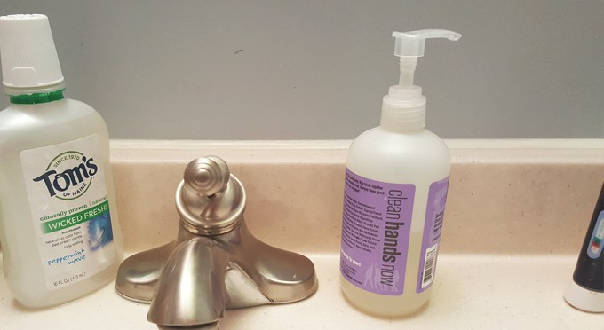 use less hand soap